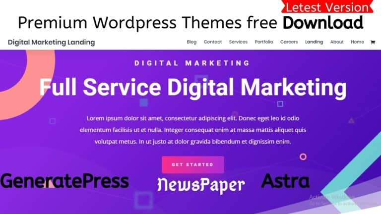 Premium Wordpress Themes free Download