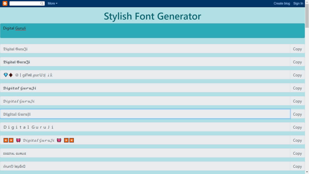 Stylish Name Generator for Facebook